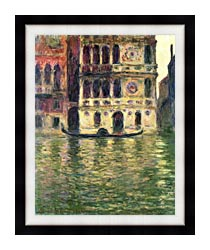 Claude Monet Palazzo Dario canvas with modern black frame