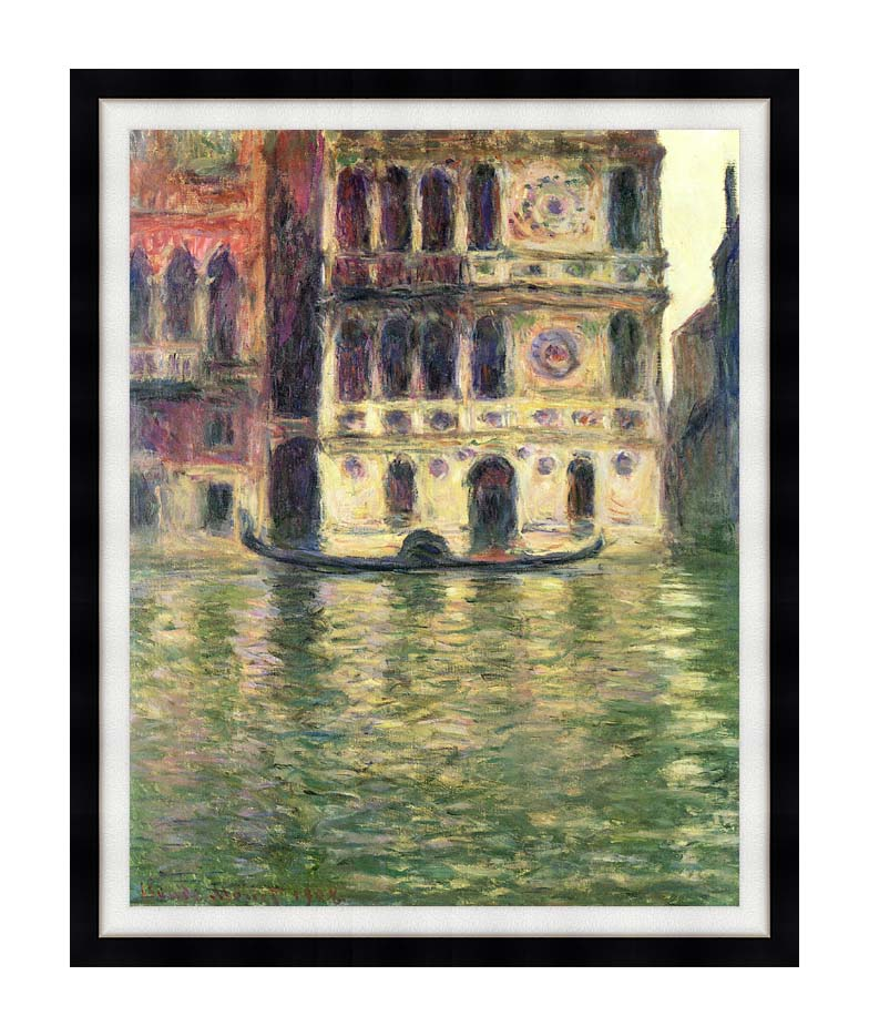 Claude Monet Palazzo Dario with Modern Black Frame