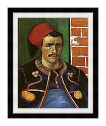 Vincent Van Gogh The Zouave canvas with modern black frame