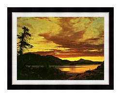 Frederic Edwin Church Sunset Detail canvas with modern black frame