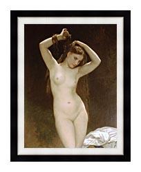 William Bouguereau Bather canvas with modern black frame