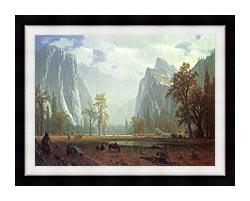 Albert Bierstadt Looking Up The Yosemite Valley Detail canvas with modern black frame