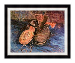 Vincent Van Gogh A Pair Of Shoes canvas with modern black frame