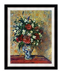 Camille Pissarro Vase Of Flowers canvas with modern black frame