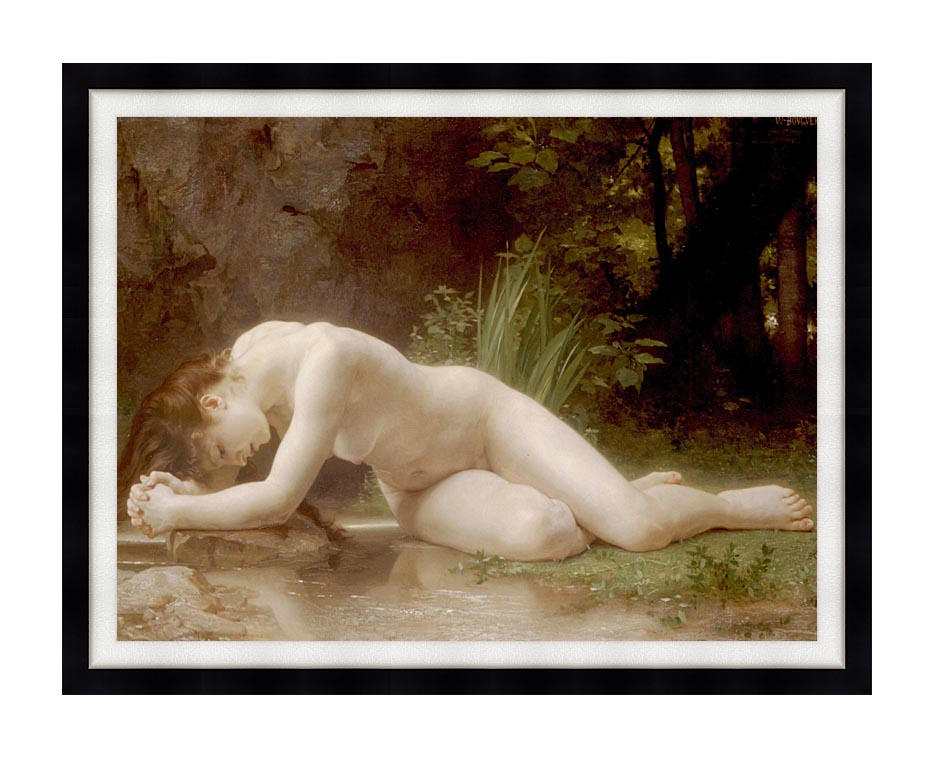 William Bouguereau Biblis with Modern Black Frame