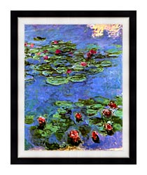 Claude Monet Water Lilies 1914 canvas with modern black frame