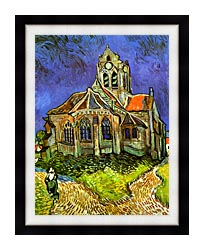 Vincent Van Gogh The Church At Auvers canvas with modern black frame