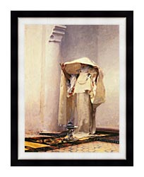 John Singer Sargent Fumee Dambre Gris canvas with modern black frame