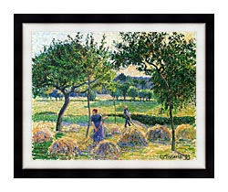 Camille Pissarro Bountiful Harvest canvas with modern black frame