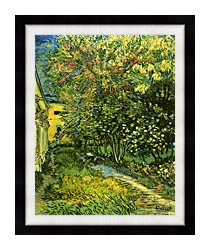 Vincent Van Gogh The Garden Of Saint Paul Hospital canvas with modern black frame