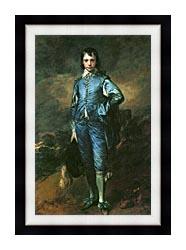 Thomas Gainsborough The Blue Boy canvas with modern black frame