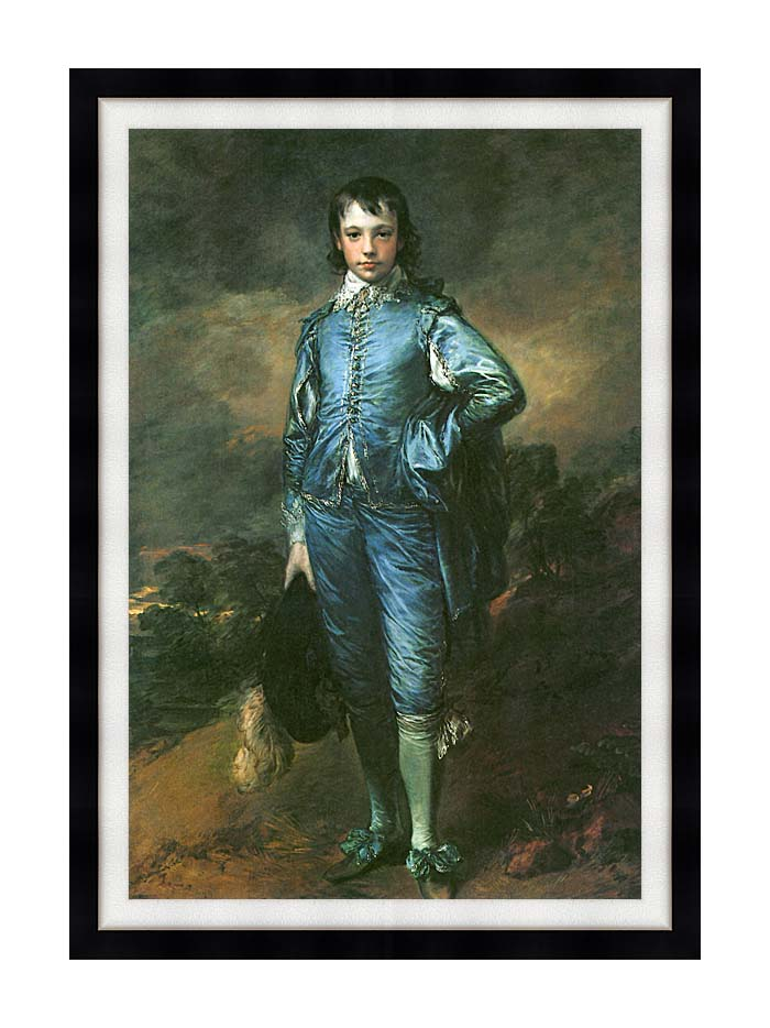 Thomas Gainsborough The Blue Boy with Modern Black Frame