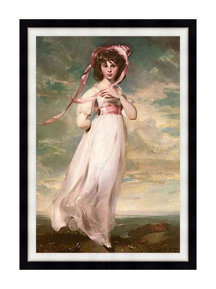 Thomas Lawrence Pinkie with Modern Black Frame