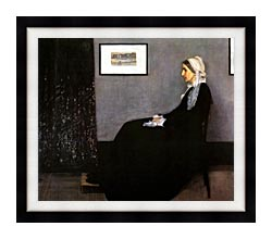 James Abbott McNeill Whistler Arrangement In Grey And Black Portrait Of The Artists Mother canvas with modern black frame
