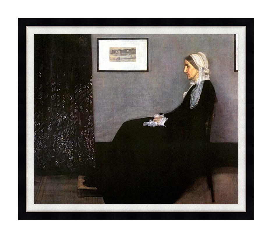 James Abbott McNeill Whistler Arrangement in Grey and Black: Portrait of the Artist's Mother with Modern Black Frame