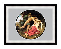 William Bouguereau Flora And Zephyr canvas with modern black frame