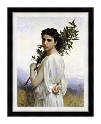 William Bouguereau Laurel Branch canvas with modern black frame