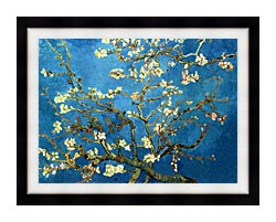 Vincent Van Gogh Almond Blossom Detail canvas with modern black frame