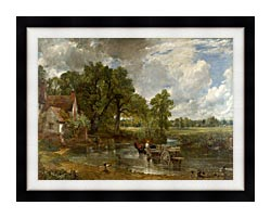 John Constable The Hay Wain canvas with modern black frame