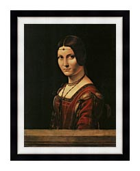 Leonardo Da Vinci Lady In The Court Of Milan canvas with modern black frame