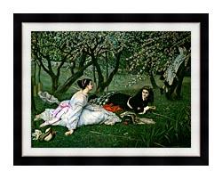 James Tissot Le Printemps canvas with modern black frame