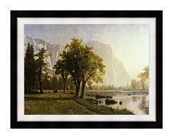 Albert Bierstadt El Capitan Yosemite Valley California canvas with modern black frame