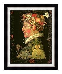 Giuseppe Arcimboldo Spring canvas with modern black frame