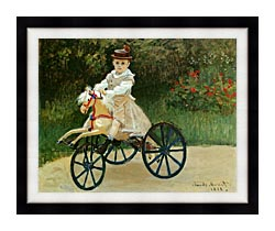 Claude Monet Jean Monet On His Horse Tricycle canvas with modern black frame