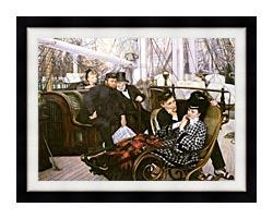 James Tissot The Last Evening canvas with modern black frame