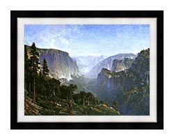 Thomas Hill Yosemite Valley canvas with modern black frame