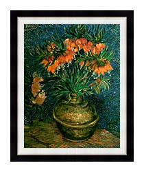 Vincent Van Gogh Fritillaries In A Copper Vase canvas with modern black frame