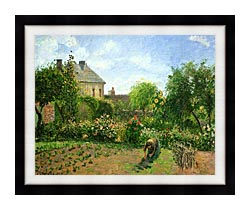 Camille Pissarro The Artists Garden At Eragny 1898 canvas with modern black frame