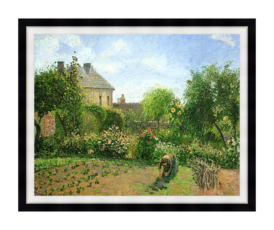 Camille Pissarro The Artist's Garden at Eragny 1898 with Modern Black Frame