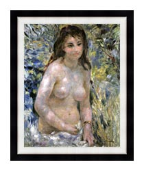 Pierre Auguste Renoir Nude In Sunlight canvas with modern black frame