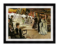 James Tissot The Ball On Shipboard canvas with modern black frame