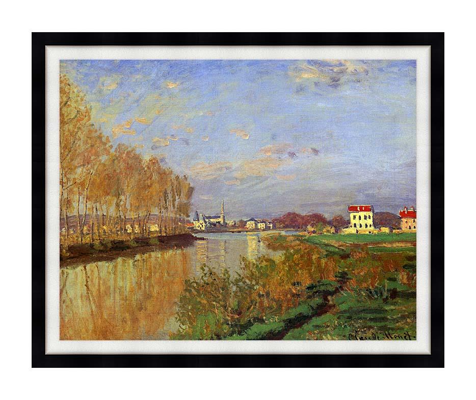 Claude Monet The Seine at Argenteuil (Vanilla Sky) with Modern Black Frame