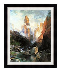 Thomas Moran Mist In Kanab Canyon Utah 1892 canvas with modern black frame
