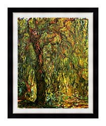Claude Monet Weeping Willow 1919 Detail canvas with modern black frame