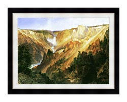 Thomas Moran Lower Falls Of The Yellowstone canvas with modern black frame