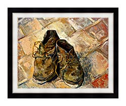 Vincent Van Gogh A Pair Of Old Shoes canvas with modern black frame