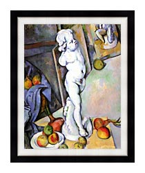 Paul Cezanne Still Life With Plaster Cast canvas with modern black frame