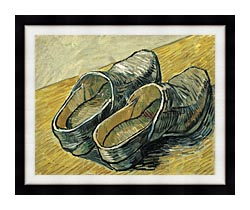 Vincent Van Gogh A Pair Of Leather Clogs canvas with modern black frame