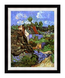 Vincent Van Gogh Houses At Auvers canvas with modern black frame