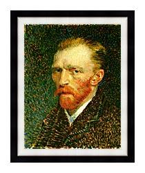 Vincent Van Gogh Self Portrait canvas with modern black frame