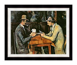 Paul Cezanne The Card Players canvas with modern black frame
