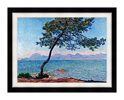 Claude Monet Antibes canvas with modern black frame