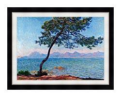 Claude Monet Antibes canvas with modern black frame