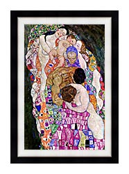 Gustav Klimt Death And Life Life Portrait Detail canvas with modern black frame