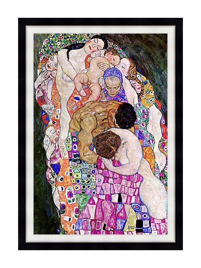 Gustav Klimt Death and Life (Life portrait detail) with Modern Black Frame