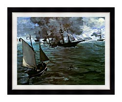 Edouard Manet Battle Of The Kearsarge And The Alabama Detail canvas with modern black frame